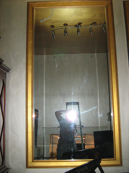 Large Pair of Gilt frames with Beveled Glass