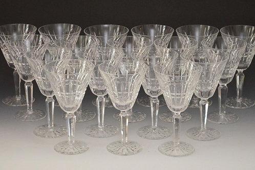 18 Waterford Glenmore Crystal Wine Glasses