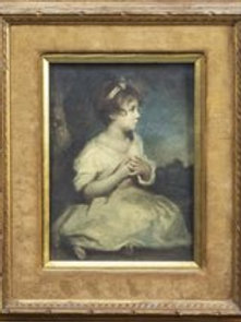 Portrait of a seated little girl