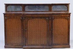 Late Victorian server with rose wood top