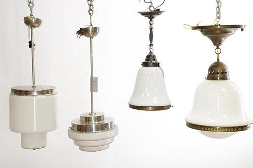 4 German modern light fixtures