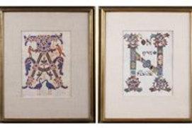 Italian Illustrated Manuscript Prints