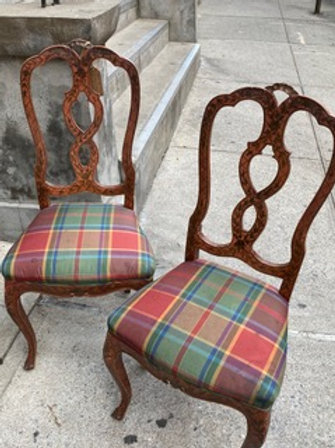 Pair of Painted Italian Chairs