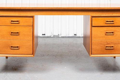 Mid-Century Walnut Desk with Drop Leaf Top