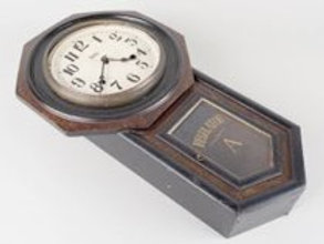 CLOCK WITH LETTER A