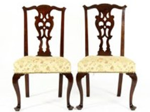 Pair of Georgian Side Chairs,18th C.