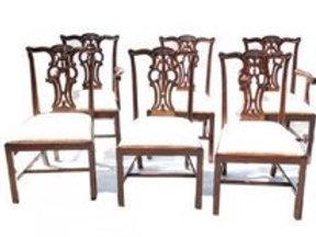 Six Maitland Smith Mahogany Dining Chairs