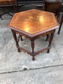 Inlaid walnut table