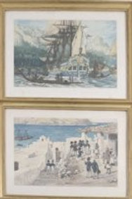 Two Prints After Gustav Alaux