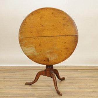 19th Roundmaple tilt top table