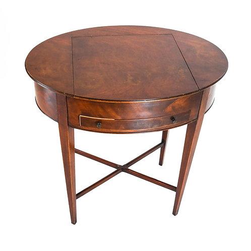 Hepplewhite-Style Oval Vanity