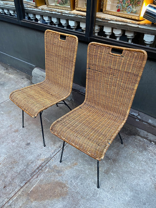 Pair of a Salterini Mid-Century side chairs