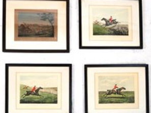 Three prints by H. Alken (sculpt.) and one by Levacher.