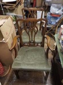 Pair of Kittinger mahogany arm chairs