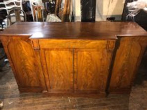 19th century mahogany sideboard with linen drawer snd shelves