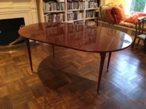 Mahogany Drop Leaf Dining Table with Oversized Leaf