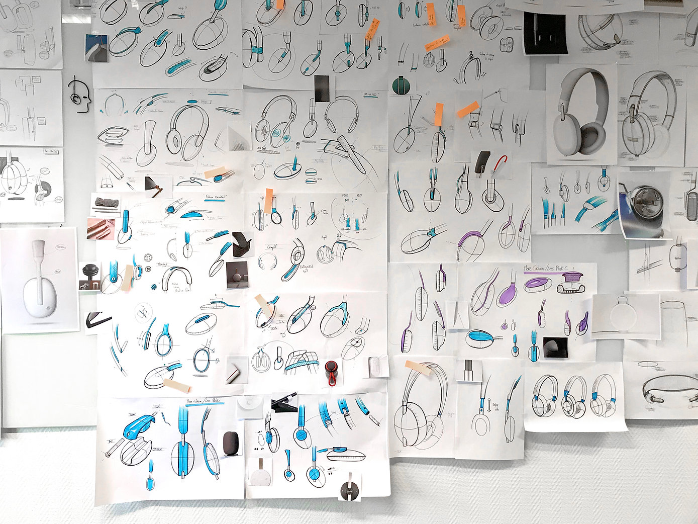Ideation, Concept, Sketches, Industrial Design, Product Design, Doodles, Marker, Moodboard, Creativity, Concept, Headphones