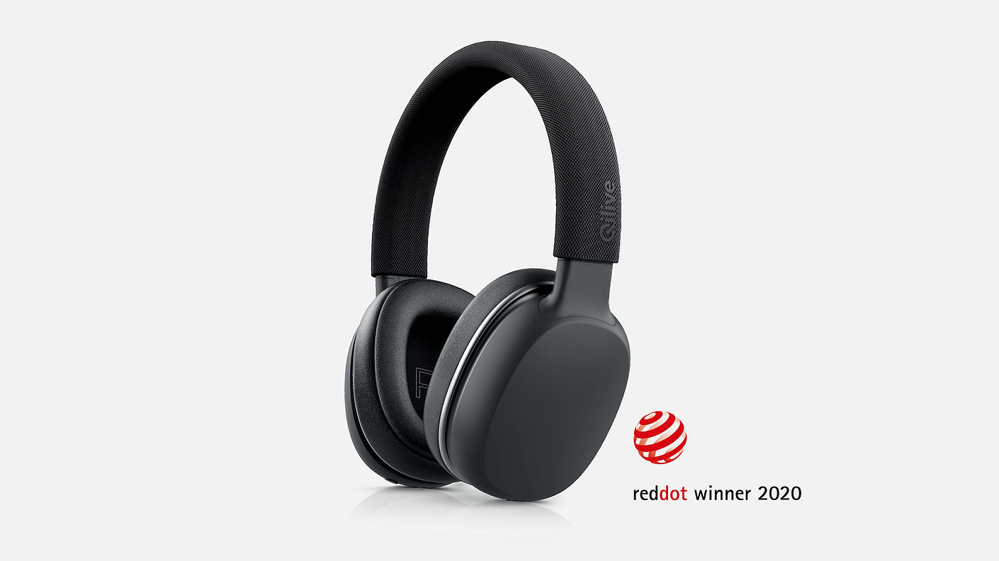 Headphones, Concept, Industrial Design, Qilive, Red Dot Design Award 2020, Recognition, consumer electronics, device, innovation, ideation, freelance, designer, product design