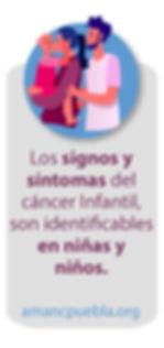 Los signos y sintomas del cancer infanti