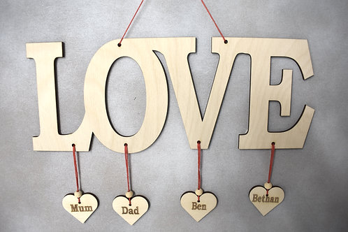 Love word sign (long design.)
