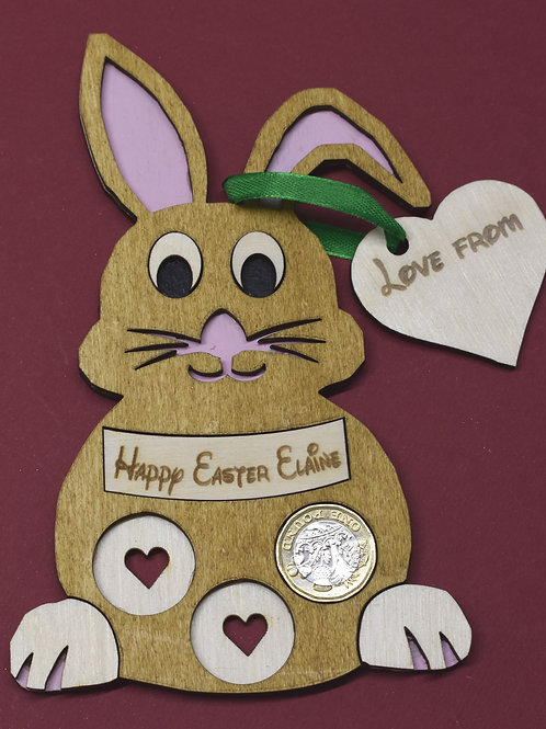 Easter bunny money holder