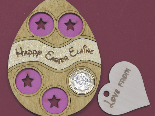Easter egg money holder