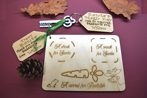 Christmas Eve board and Magic key personalised