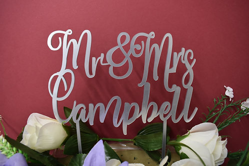 Cake topper (personalised acrylic)