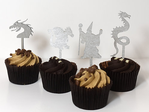 Magic and monsters cupcake toppers