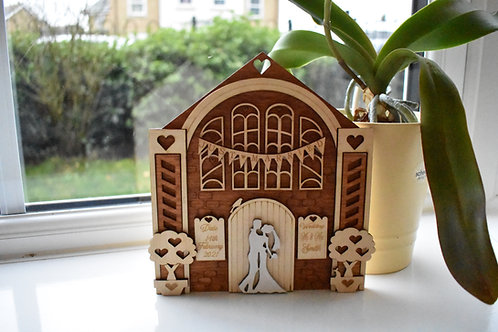 Just Married Church personalised wedding gift.