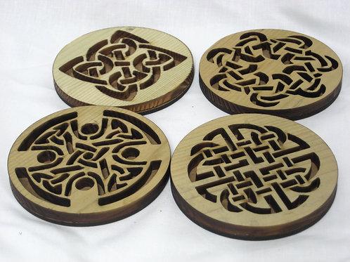 Celtic hardwood coasters