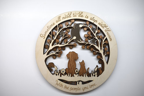 Dogs & Cats and moon personalised family gift.
