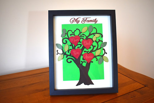 Personalised coloured family tree