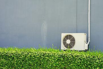 Air compressor installation on pedestal.