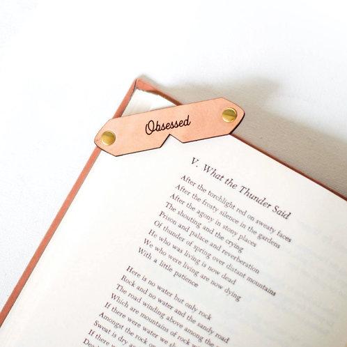 Novel Notch Leather Corner Bookmark