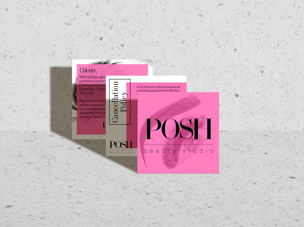 POSH Beauty Studio Instagram Posts