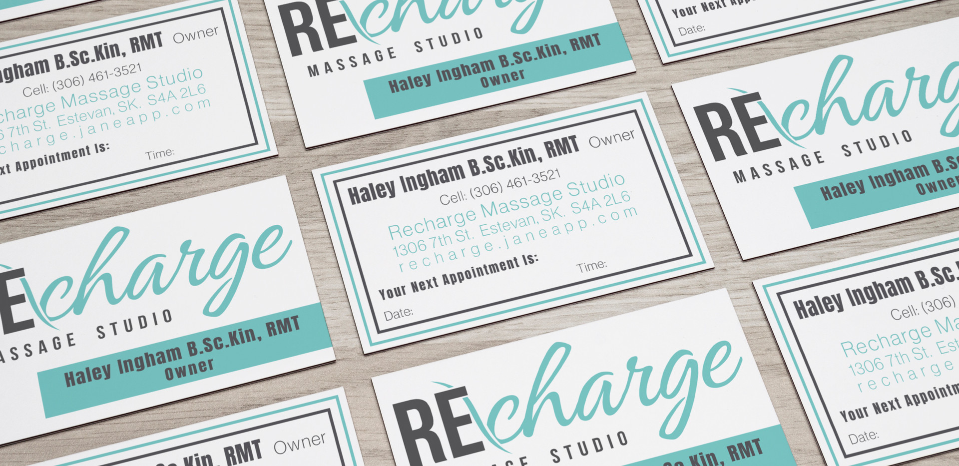 Recharge Massage Studio Business Cards