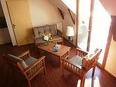 Zithoek van Primevère, een vakantiewoning voor 4-5 personen.