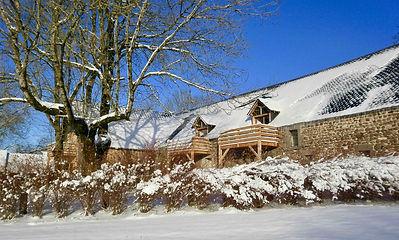 Winters in de Auvergne kunnen behoorlijk koud zijn. Clos Saint Sauves ziet er dan zo uit.