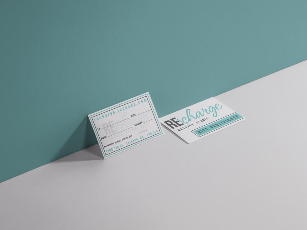 Recharge Massage Studio Gift Certificates