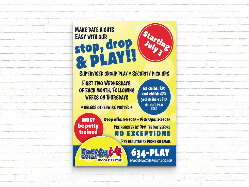 Energy Outlet Indoor Play Zone Poster