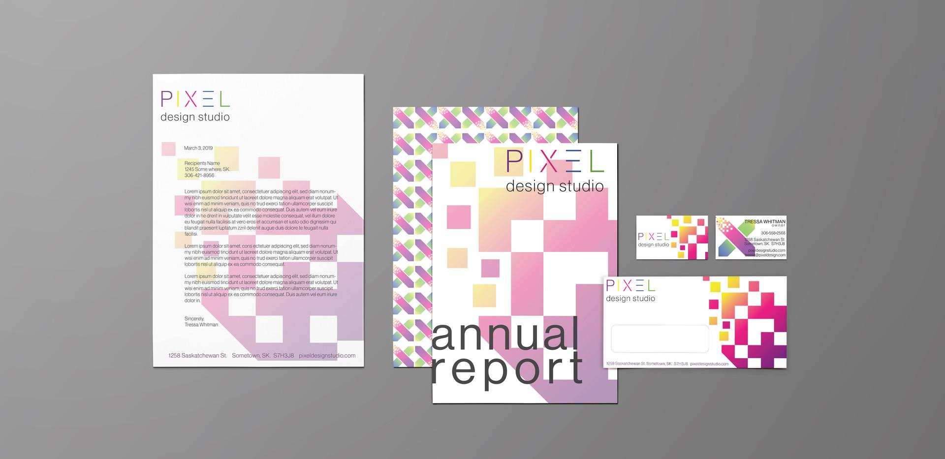 Pixel Design Studio Stationary