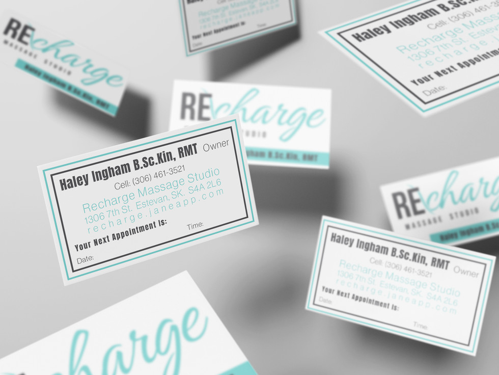 Recharge Massage Studio Business Cards