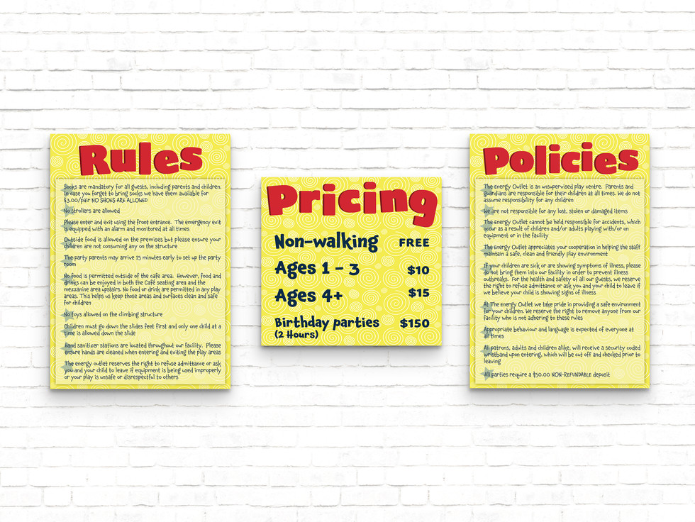 Energy Outlet Indoor Play Zone Posters