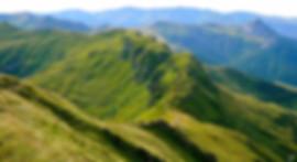 Het berglandschap in de Auvergne.