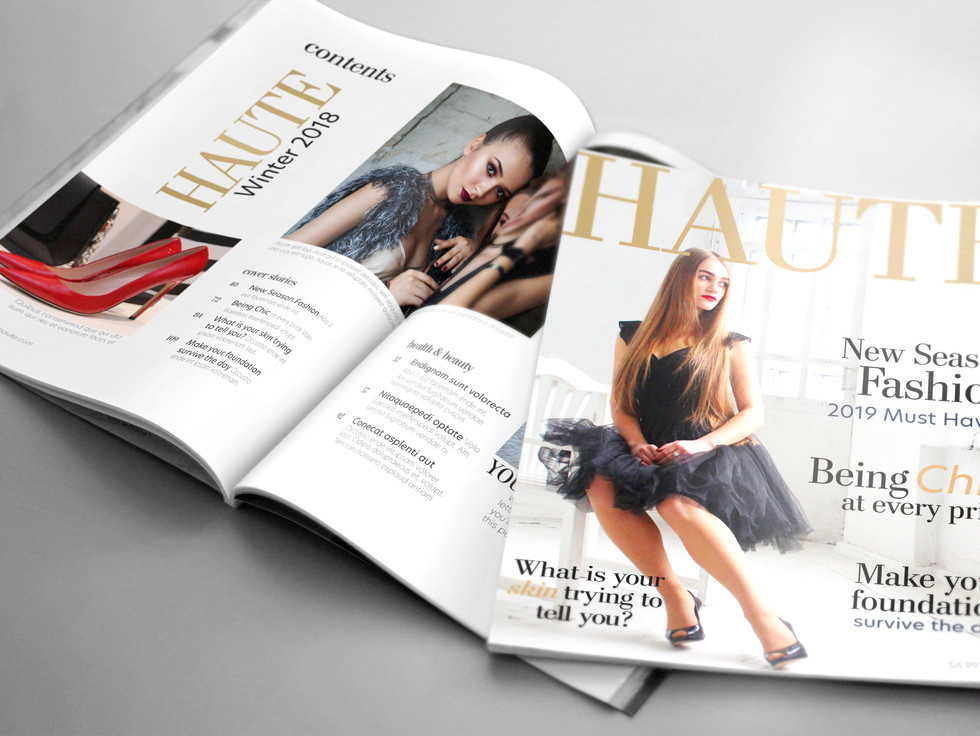 Magazine with Table of Contents