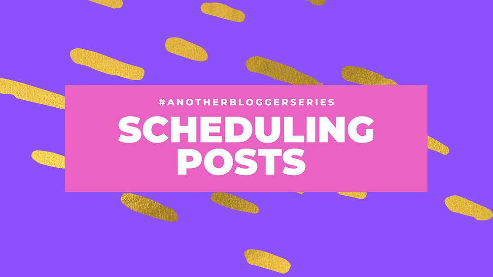 "title image with ""scheduling posts"" written on, made in canva."