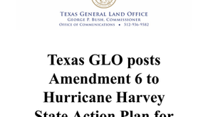 Texas GLO posts Amendment 6 to Hurricane Harvey