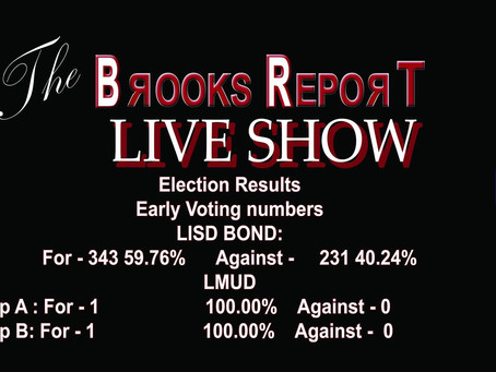 Official Results for early voting for LISD BOND and Lumberton MUD PROP A & B