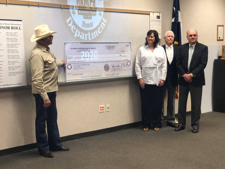 $100,000 donation to the 100 Club of Southeast Texas